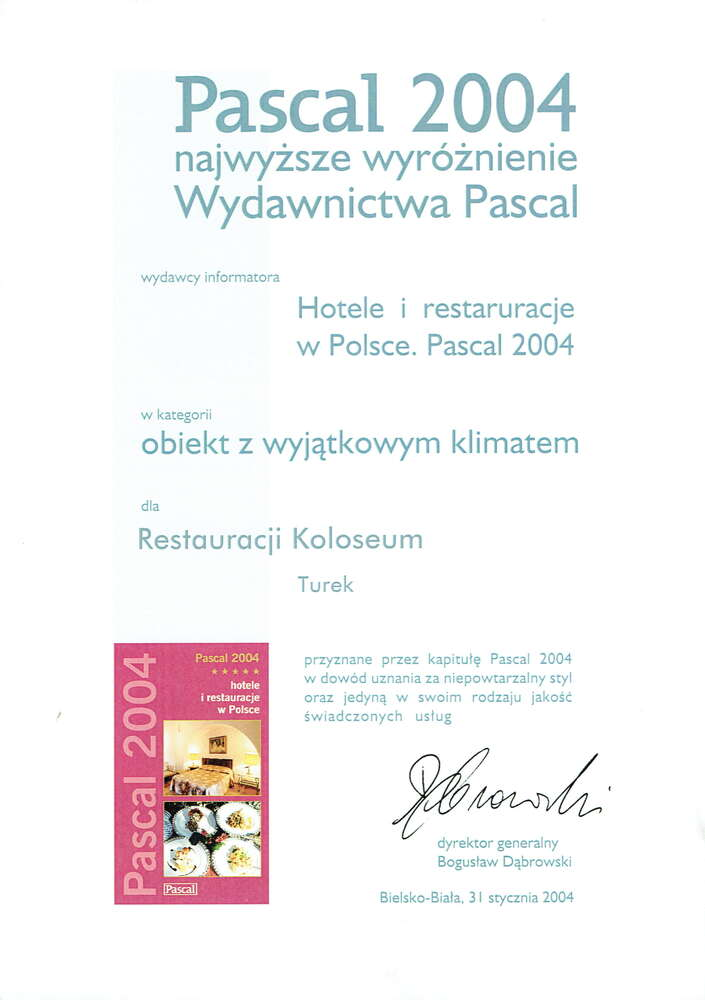 wydawnictwo pascal referencje dla hotelu koloseum
