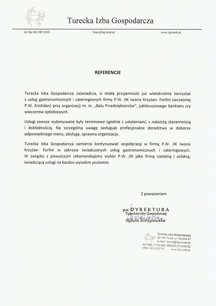 turecka izba gospodarcza referencje dla hotelu koloseum